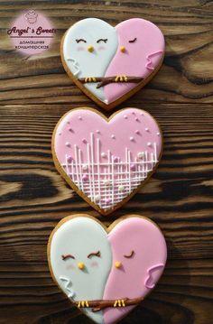 valentines day cookies Cupcakes San Valentn Ideas Fondant Ideas For 2019 Valentine's Day Sugar Cookies, Heart Cookies, Iced Cookies, Cute Cookies, Cupcake Cookies, Valentines Day Cookies, Valentine Cookies, Easter Cookies, Valentines Baking