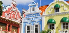 Center square in Oranjestad Aruba Caribbean windward islands lesser antillies west indies. Aruba Caribbean, Southern Caribbean Cruise, Caribbean Decor, Jig Saw, Beautiful Architecture, Architecture Design, Colonial Architecture, Small Prefab Cabins, Aruba Island
