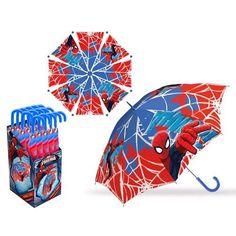 Paraguas automatico Spiderman Marvel 45cm - http://comprarparaguas.com/baratos/marvel/paraguas-automatico-spiderman-marvel-45cm/