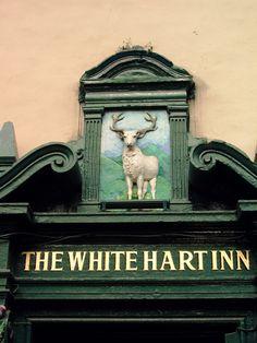 "cityhopper2: "" Pub sign of the White Hart Inn, Edinburgh, Scotland photography by cityhopper2 """
