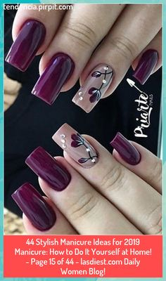 Gel Manicure Designs, Manicure Colors, Nail Colors, Nail Art Designs, Manicure Ideas, Diy Manicure, Nails Design, Manicures, Pink Nail Art
