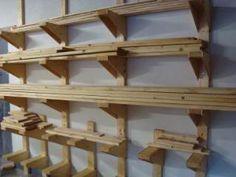 Home Design Jobs: Home Workshop Design Lumber Storage Rack, Diy Storage Rack, Lumber Rack, Wood Rack, Shop Storage, Garage Storage, Storage Ideas, Storage Cart, Wood Lumber