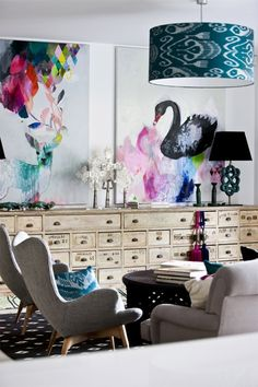 Couture Eclectic Living Room Design