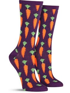 These carrot socks were made for more than just Bugs Bunny. Since being forced to eat them as a kid, your budding love for carrots has grown to a crazy obsession… and you have unique vision to Silly Socks, Funky Socks, Crazy Socks, Cute Socks, Colorful Socks, Happy Socks, My Socks, Food Socks, Socks World