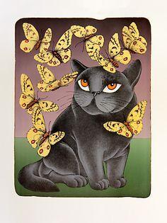 Devět životů, František Pon. Kitsch, Cat Boarding, All About Cats, Cat Drawing, Black Cats, Cat Art, Scooby Doo, Objects, Butterfly