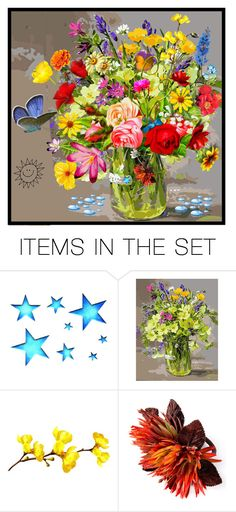 """""""sunny days are here again......"""" by groen ❤ liked on Polyvore featuring art"""