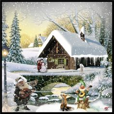 """The Gnome's Christmas Night"" by valsal on Polyvore Christmas Night, Gnomes, Exterior, Seasons, Hanna Andersson, House Styles, World, Awesome, Polyvore"