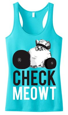 CHECK MEOWT #Workout #Tank Top -- By #NobullWomanApparel, for only $24.99! Click here to buy http://nobullwoman-apparel.com/collections/fitness-tanks-workout-shirts/products/check-meowt-tank-top