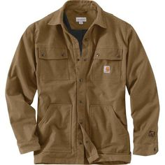 Fall's the best season for catching up on some house projects you've been putting off through the hot, hazy days of summer. Use the time before the snow flies to build that fence, chop up that tree, or rake the piling leaves with the Carhartt Men's Full Swing Cryder Shirt Jacket keeping you warm. Built with a soft fleece lining to defend against a crisp fall chill in the air, the shirt jacket comes prepared to move with you, with a stretchy cotton and polyester exterior fabric that won't…