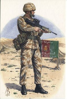 Alix Baker Postcard - AB24/4 Private, 1st Battalion, Queens Lancashire Regiment, Exercise Rocky Lance, Oman March-April 1995