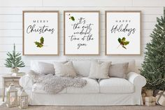 Christmas wall decor,Christmas prints,Merry Christmas sign,It's the most wonderful time of the year,Christmas decor,Set of 3 wall art,Xmas by PrintableLoveStory on Etsy