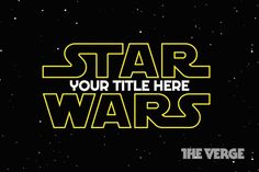 The upcoming Star Wars: Episode VII finally has a full name: The Force Awakens. But if you're not happy with the actual title, we're here to help you make your own.