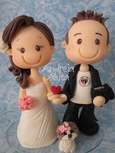 Porcelana Fría - Cold Porcelain - Wedding - Bride & Groom
