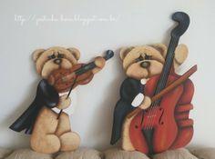 Gostinho Bom: Pintura decorativa - Urso com violoncelo