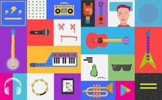 """San Francisco-based graphic designer Zachary Gibson  has produced a series of fun, cheerful illustrations for the launch of the """"Google Pl..."""