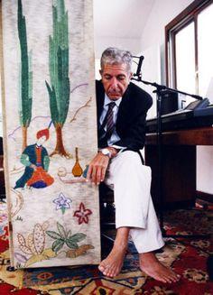 Leonard Cohen's naked feet