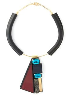 Shop Marni contrasting panel necklace in Eraldo from the world's best independent boutiques at farfetch.com. Over 1000 designers from 300 boutiques in one website.