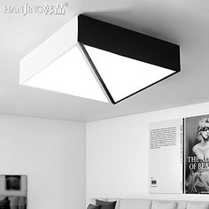 Scandinavian Geometry YPOSION LED Ceiling lamp light atmosphere square bedroom minimalist modern scandinavian creative energy saving lamps light lamps ,60*20*10cm rooms ** You can get more details by clicking on the image.