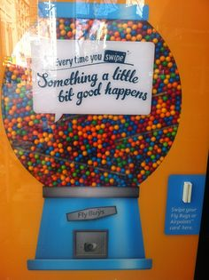 We made an adshel that gave out a gumball when you swiped your card! Gumball, Your Cards, Shit Happens, Marketing, Fun, Stuff To Buy, Funny