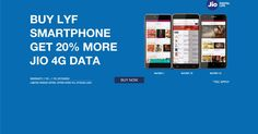 Get 20% Internet Data if you buy or already having LYF Smartphones  LYF handset-users to get 20% extra data from Reliance Jio  Get LYF Handsets from here  Reliance Jio is now offering 20% extra data to customers who are using its LYF smartphones Reliance Jiois now offering 20% extra data to customers who are using itsLYFsmartphones reads a banner in the MyLyf website.  The offer is valid only on handsets that range between Rs. 6600 and Rs. 9700 that come under the sub-brand model of Water…