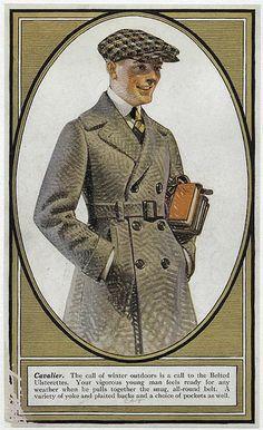 C. Leyendecker, illustration art for Kuppenheimer Style Booklet. Mode Vintage, Vintage Men, Vintage Style, Jc Leyendecker, Look Fashion, Mens Fashion, Fashion Tips, Vintage Outfits, Vintage Fashion