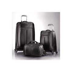 Black-Luggage-Set-Samsonite-3 pc.-Spinner-Luggage Set-Travel-Bags  ebay 265