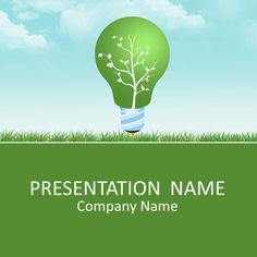 Green energy PowerPoint template.