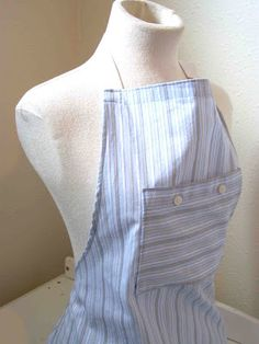Made by Me. Shared with you.: Tutorial: Men's Shirt to Apron Refashion