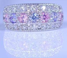 Female Purple Zircon Ring 925 Silver Promise Engagement Rings For Women Crystal Fashion Jewelry. Starting at $1
