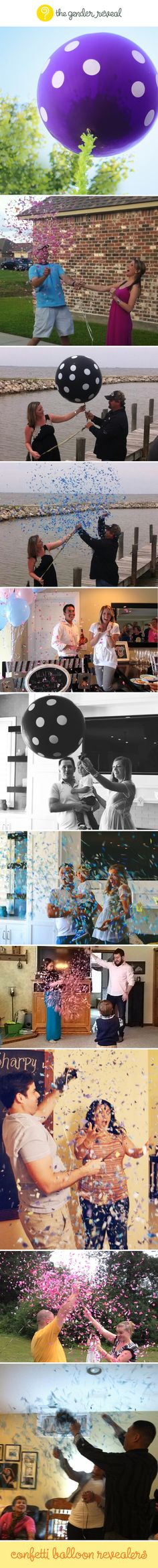 Confetti Balloon Revealers #genderreveal.... I would use this if I ever did a gender reveal!!!!