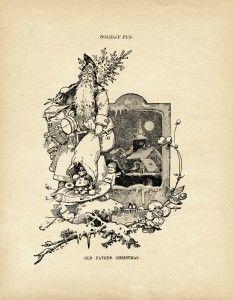 Old Design Shop ~ free printable vintage illustration of Old Father Christmas