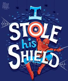 """I stole his shield"" – Spider Man – Peter Parker – Avengers – Infinity War – Mar… ""I stole his shield"" – Spider Man – Peter Parker – Avengers – Infinity War – Marvel – Movie – Hand Lettering by RIsa Rodil Marvel Avengers, Marvel Vs Dc Comics, Marvel Funny, Captain Marvel, Marvel Quotes, Marvel Memes, Avengers Quotes, Marvel Universe, Marvel Fanart"