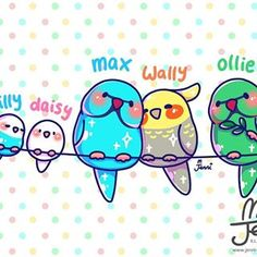 Some ppl have cats and dogs as their pets.my family have birds ➡ 💖🐥 . Cute Kawaii Drawings, Kawaii Art, Kawaii Anime, Kawaii Stuff, Cute Wallpaper Backgrounds, Cute Wallpapers, Cats And Cucumbers, Color Me Mine, Cute Puns