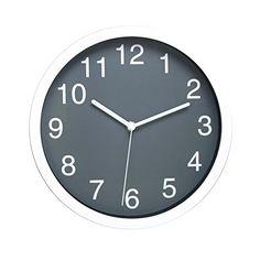 Amazon.com - HITO™ Modern Colorful Silent Non-ticking Wall Clock- 10 Inches (Gray) -
