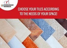Choose your #tiles according to the needs of your space!