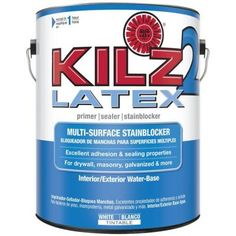 KILZ 2 1-gal. White Water-Based Latex Interior/Exterior Multi-Surface Primer, Sealer and Stain-Blocker-20941 at The Home Depot