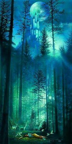 New Ideas Fantasy Art Nature Faeries Fantasy Magic, Fantasy World, Fantasy Forest, Dark Forest, Disney Kunst, Disney Art, Disney Pocahontas, Disney Princess, Fairy Land