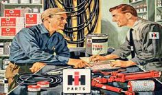 Vintage IH Parts Counter Poster