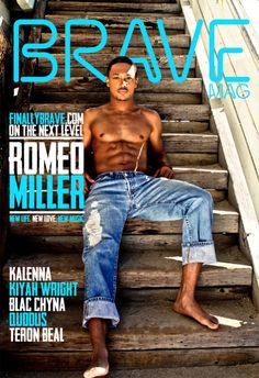 rapper and actor Romeo Miller graces the April 2012 cover of BRAVE Magazine. Photographed by Stella Simona and Caleb Wilson, he shows off his six-pack for a sexy beach shoot. Romeo Miller, Beautiful Men, Beautiful People, Blac Chyna, The Perfect Girl, Handsome Black Men, I Work Out, Celebs, Celebrities