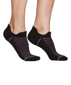 Look at this #zulilyfind! Black Half-Cushion No-Show Socks #zulilyfinds