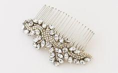 SCARLETT crystal bridal headpiece | Percy Handmade