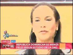NEW  Segun Estudios de la ONU Republica Dominicana es menos feliz