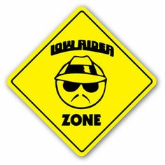 funny trucker signs | Low Rider Zone Sign New Truck Lowrider Rims Gift Custom Car Funny ...