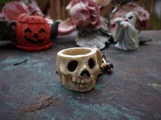 Halloween Skull Handbag Keychain Jewelry Skeleton Charm