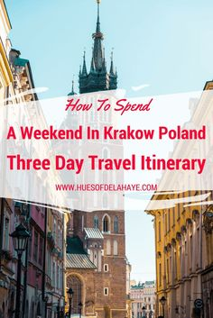 How to spend a weekend in Krakow Poland: three day tavel itinerary provides you with all you'll need to spend a weekend in Krakow Poland. Europe Travel Guide, Travel Guides, Travel Destinations, Travel Advice, Travel Articles, Travel Hacks, Travel Packing, London Travel Blog, European City Breaks
