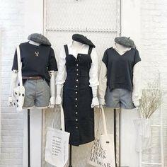 """[다이애나 오너]❥으밥 on Twitter: """"갤러리 정리하다가 발견한 3인 이상 옷 자료 뿌리기… """" Korean Casual Outfits, Retro Outfits, Vintage Outfits, Kpop Fashion Outfits, Ulzzang Fashion, Korea Fashion, Asian Fashion, India Fashion, Kpop Mode"""