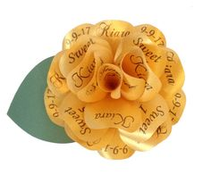 Gold Invitation Gold Quinceanera Invitation by PAPERFLORISTS