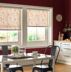 Haven't finished your Christmas shopping yet? Why not give someone a made-to-measure blind or curtain. Browse our website and choose from over 2,000 next day made-to-measure blinds & curtains. On the photo - Meadow Flower Redcurrant Roller Blind.