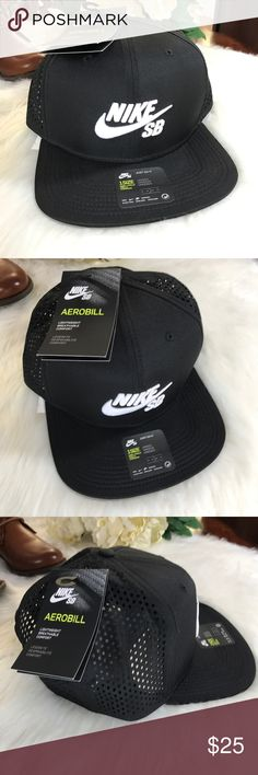 NIKE SB AEROBILL PERFORMANCE TRUCKER SNAPBACK HAT NIKE SB AEROBILL PERFORMANCE TRUCKER SNAPBACK HAT BY PACSUN Nike SB Aerobill Trucker Hat Blck Adjustable Strap Skateboard  Size:  Adjustable (OSFM) •100% Authentic •Brand New with Tags/Stickers and Direct from PacSun •Unisex •Color Black •Lightweight  •100% Polyester •Dri Fit •MSRP$29.95+tax Mesh backing for added breathability.Adjustable snap for a custom fit.Nike SB Performance Trucker HatPolyester trucker hat.Embroidered logo adorns front…