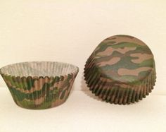 Dark Green Camo Cupcake Liners; Camouflage; Army; Marines; Woodland; Green